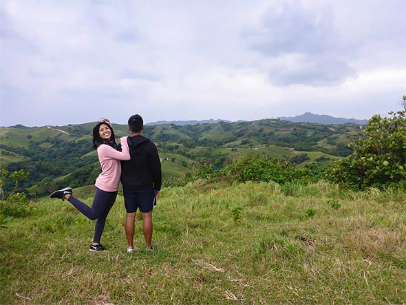 Chelsea with her boyfriend James at one of Batanes' renowned mountain stops
