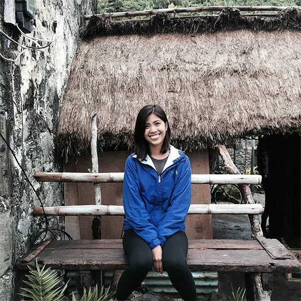 Chelsea at the Diura Fishing Village, a small coastal community in Batanes