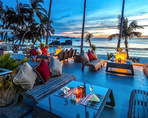End the day with a gorgeous view of the sunset from their Sky Lounge