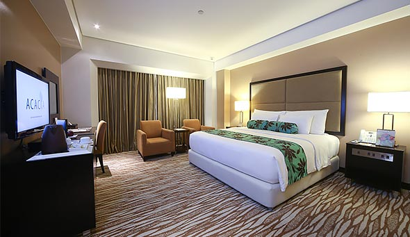 The Deluxe Room has a custom-made Dream Bed with first-rate amenities