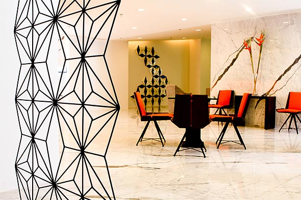 Privato Hotel is fitted with an Italian marble lobby and Philippine-made furniture pieces