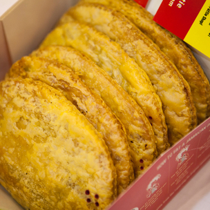 De original jamaican pattie shop  box of 6 assorted jamaican patties  cover