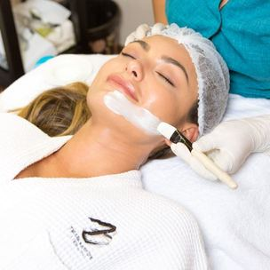 signature facial with diamond peel   ultralipo for the tummy OR arms cover copy